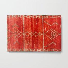 Vintage Red Moroccan Rug Print Metal Print