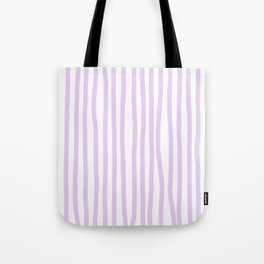 Lavender Stripes Tote Bag