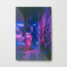 The Neon Alleyway Ghost Metal Print