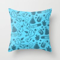 science Throw Pillows featuring SCIENCE!  by Neat Good Job!