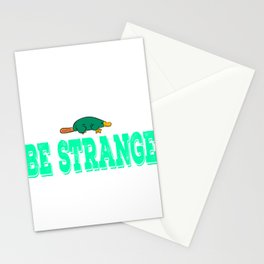 """""""Be Extra Ordinary Be Strange""""  tee design for unique and awesome people like you! Makes a cool gift Stationery Cards"""