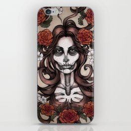 Blossoming Day of the Dead iPhone Skin