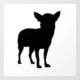 Chihuahua Silhouette Art Print