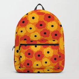 Mid Century Modern Poppy Flowers Backpack
