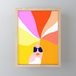 Girl Power - Rainbow Hair #girlpower Framed Mini Art Print