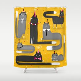 PARTY ANIMALS Shower Curtain