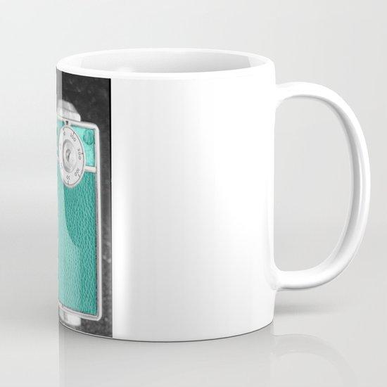 Teal retro vintage phone Mug
