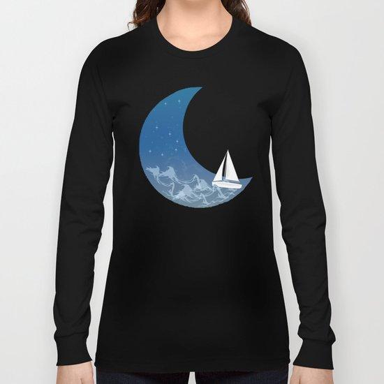 Moon Sailing Long Sleeve T-shirt