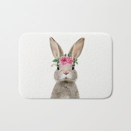 Baby Rabbit with Flower Crown Bath Mat