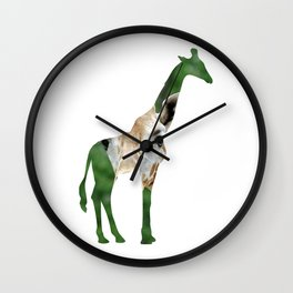 Giraffe Cutout Wall Clock