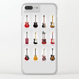 Guitar Icons No1 Clear iPhone Case