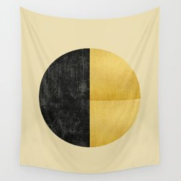 Black and Gold Circle 03 Wall Tapestry