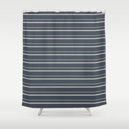 Benjamin Moore 2019 Color of the Year 2019 Metropolitan Light Gray on Hale Navy Blue Gray HC-154 Shower Curtain