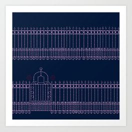 stitched gate Art Print