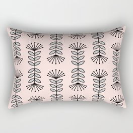 Retro Pink Floral Pattern - Mix and Match with Simplicity of Life Rectangular Pillow