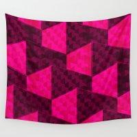 hexagon Wall Tapestries featuring HEXAGON by xalomako