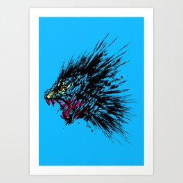 Ink of Anger Art Print