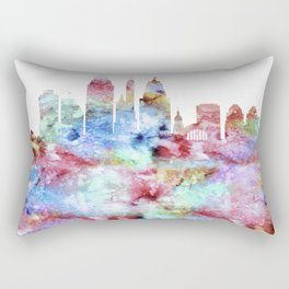 Cincinnati City Skyline Ohio Rectangular Pillow