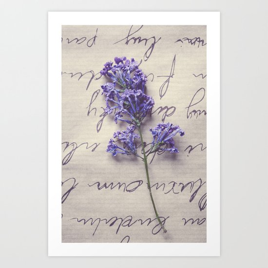 Love Letter With Lilac Art Print