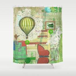 express balloon Shower Curtain
