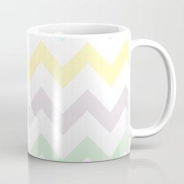 Pastel Chevron on White Coffee Mug