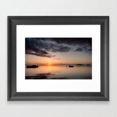 Fire Rising - Dawn in Hawaii Framed Art Print