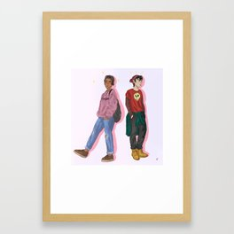 Klance fashion week Framed Art Print
