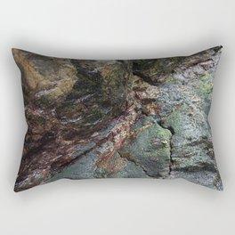 Natural Algae Covered Coastal Rock Texture Rectangular Pillow