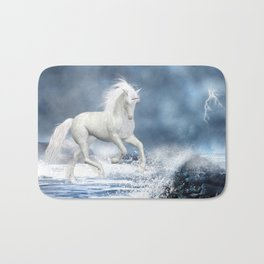 White Unicorn Bath Mat