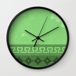 Green in the Andes Wall Clock