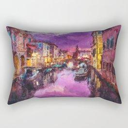 Twilight On Venice Canal Rectangular Pillow