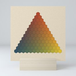 Lichtenberg-Mayer Colour Triangle vintage variation, Remake of Mayers original idea of 12 chambers Mini Art Print