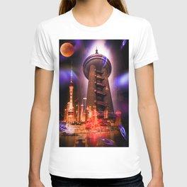 Full moon - Fascination Blood moon over Shanghai T-shirt