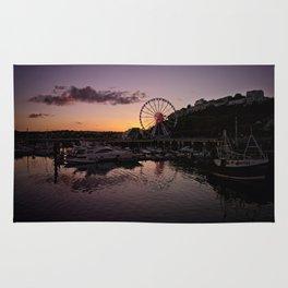 Torquay Harbour Sunset Rug