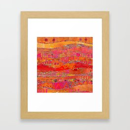 Firewalk Abstract Art Collage Framed Art Print