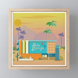 Palm Springs Apartment Framed Mini Art Print