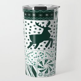 Holiday Green Quilt Design Travel Mug