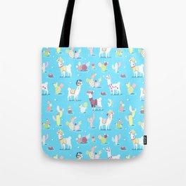 Alpaca Pattern Tote Bag