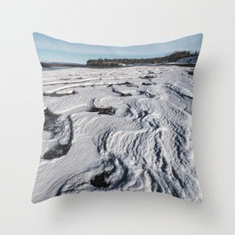 Layered Tides Throw Pillow