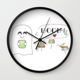 BOO(H)ks Wall Clock