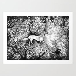 Unicorne Art Print