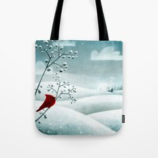 Cardinal by Friztin Tote Bag