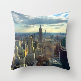 View Of New York City Throw Pillow