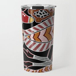 Aboriginal Art - Kangaroo Dreaming Travel Mug