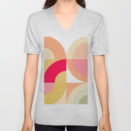 Follow the Rainbows - Mid Century Modern Unisex V-Neck