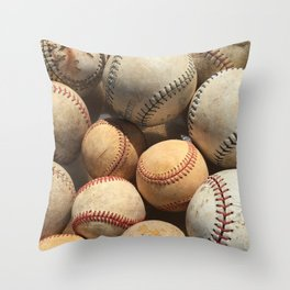 Baseball Obsession Throw Pillow