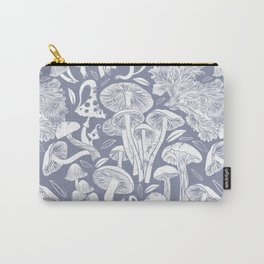 Delicious Autumn botanical poison IV // blue grey background Carry-All Pouch