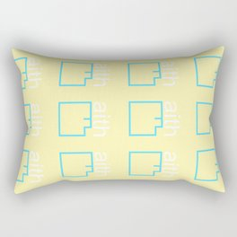 By Faith (teal & yellow) Rectangular Pillow