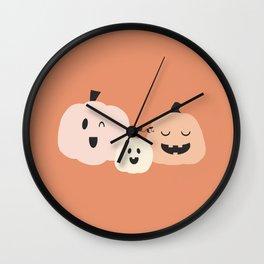3 Pumpkins 3 Wall Clock