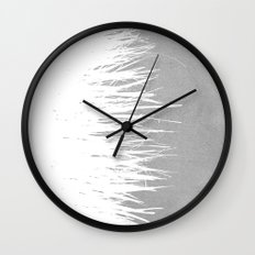 Concrete Fringe White Side Wall Clock